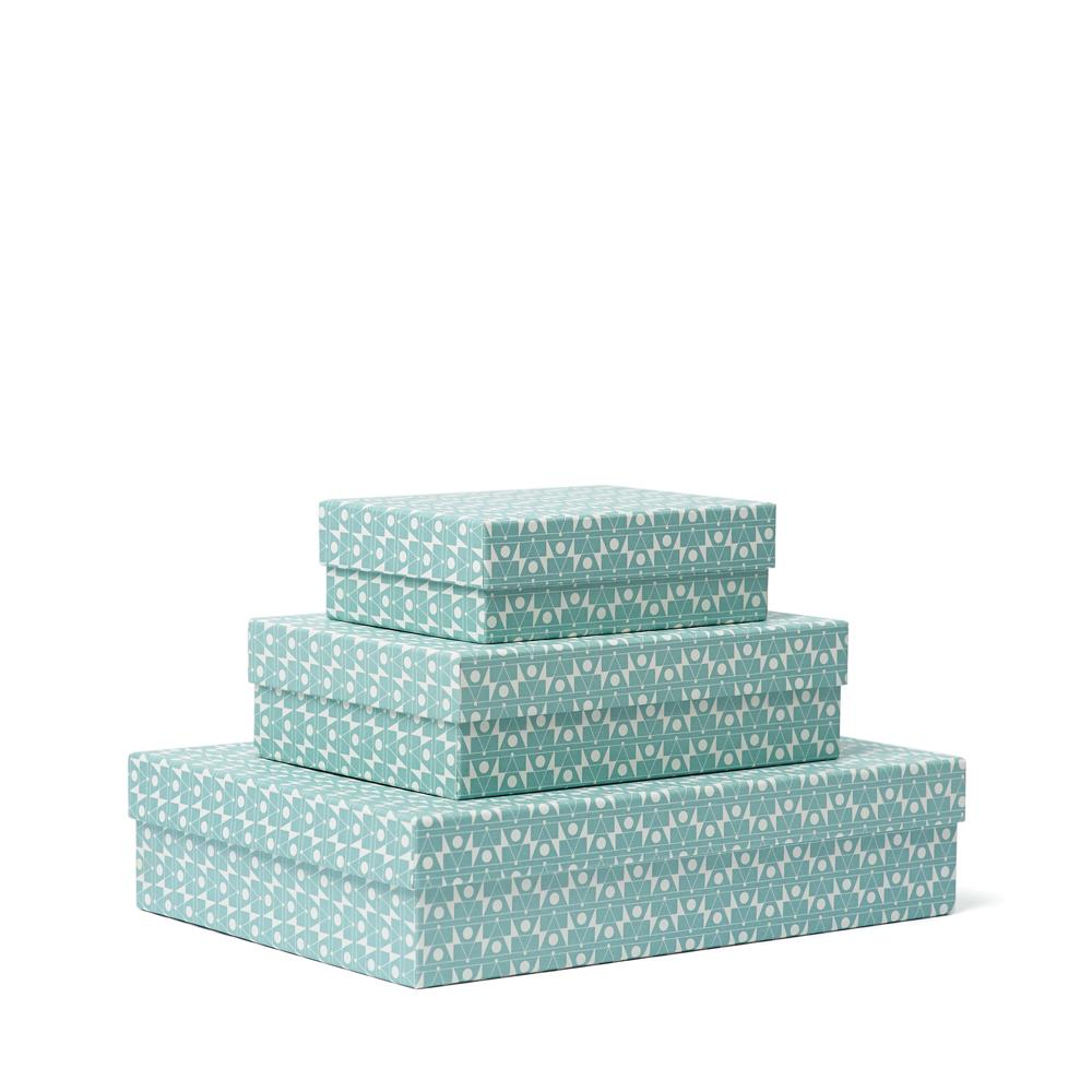FREQUENCY Decorative Box<br>Light Blue - Esme Winter
