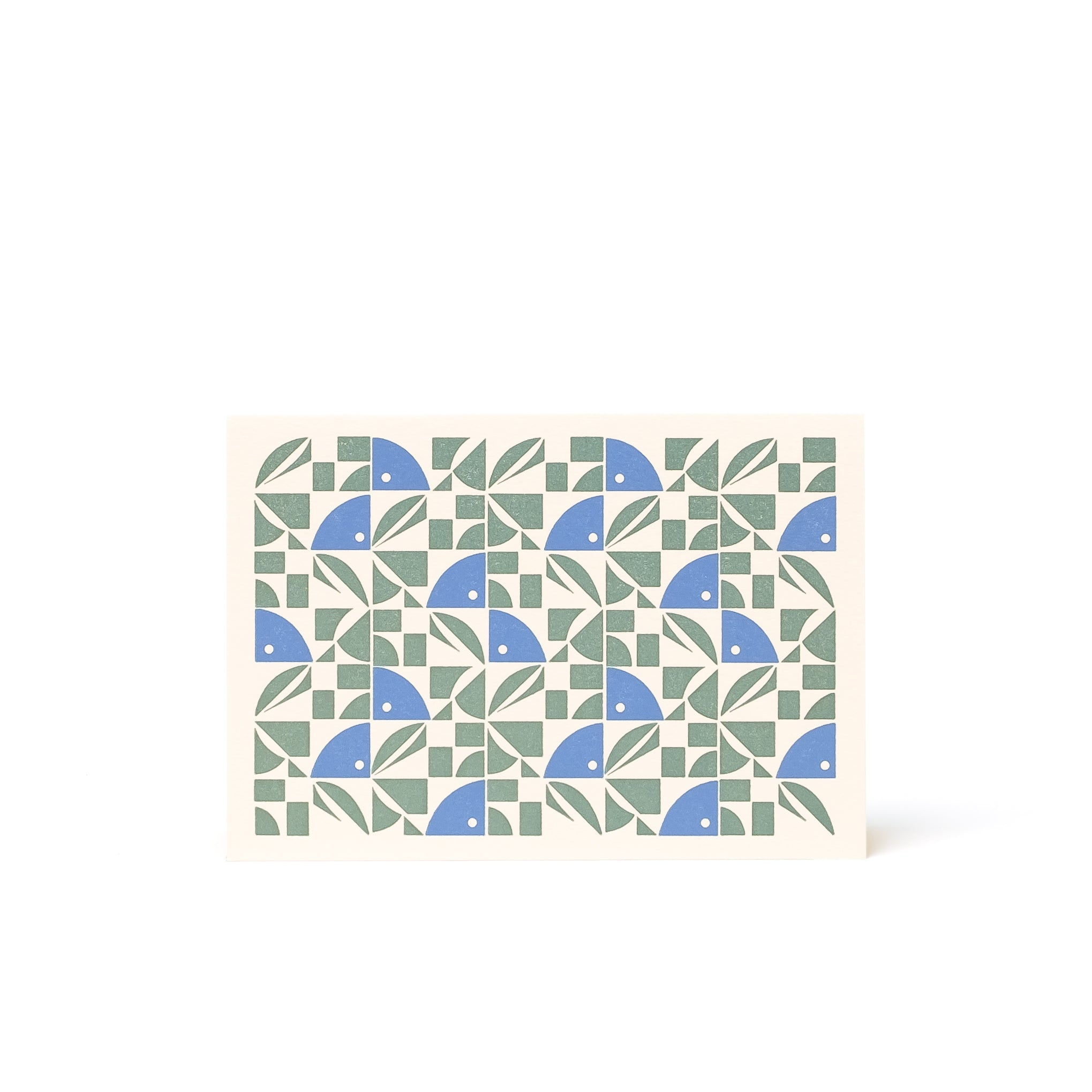 BLOOM Letterpress Card <br>Blue Grey / Bright Blue - Esme Winter