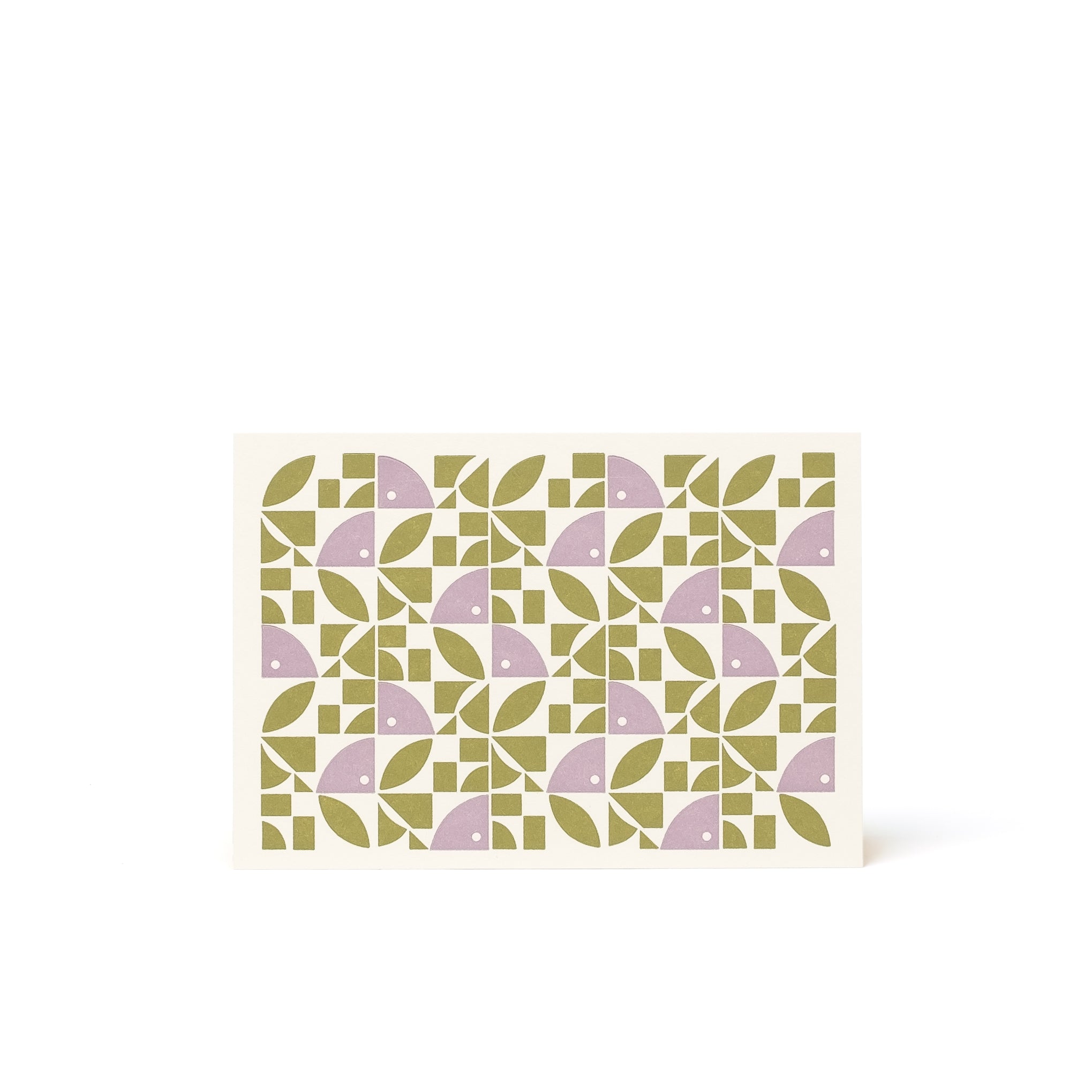 BLOOM Letterpress Card <br>Olive/Mauve - Esme Winter