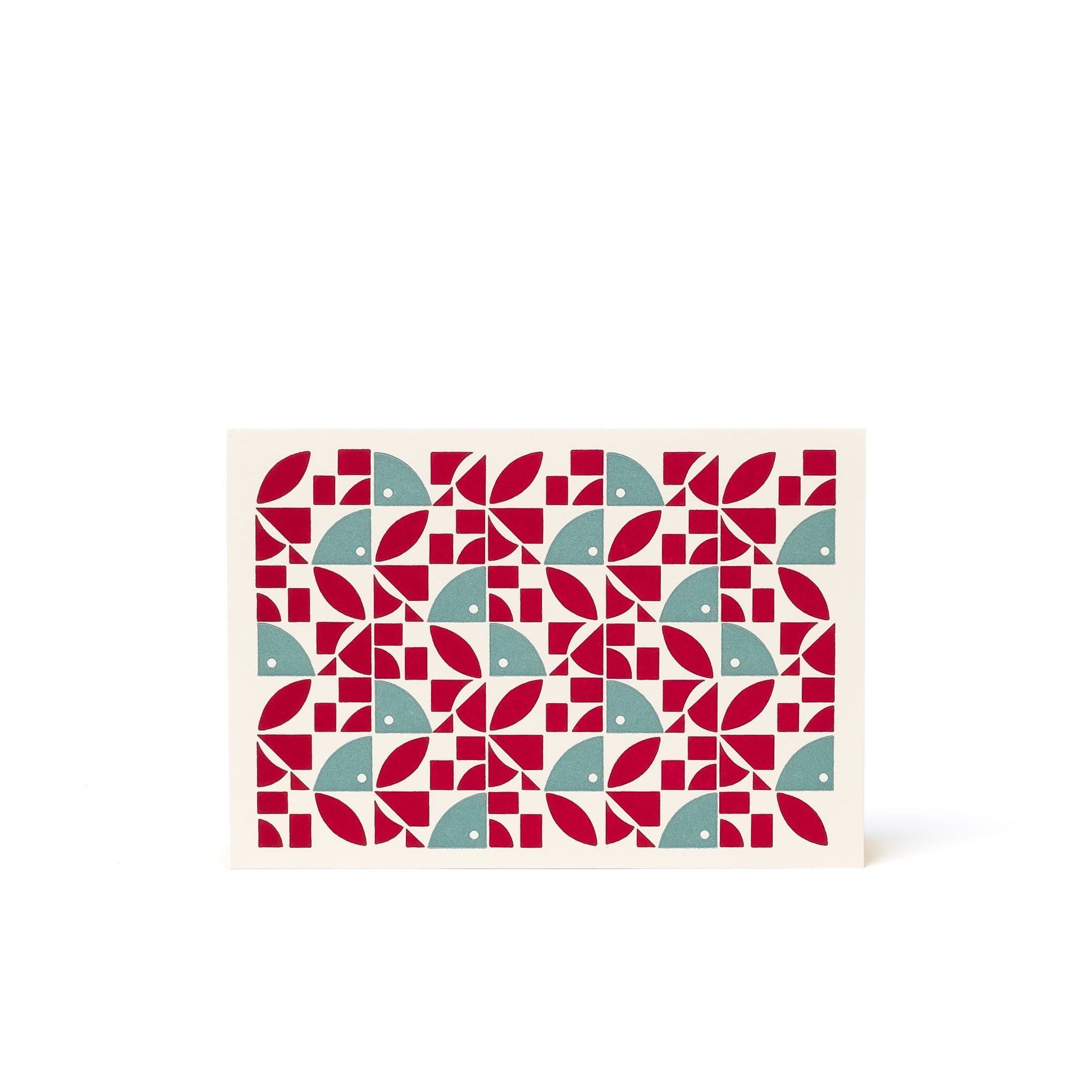 BLOOM Letterpress Card <br>Red/Green - Esme Winter