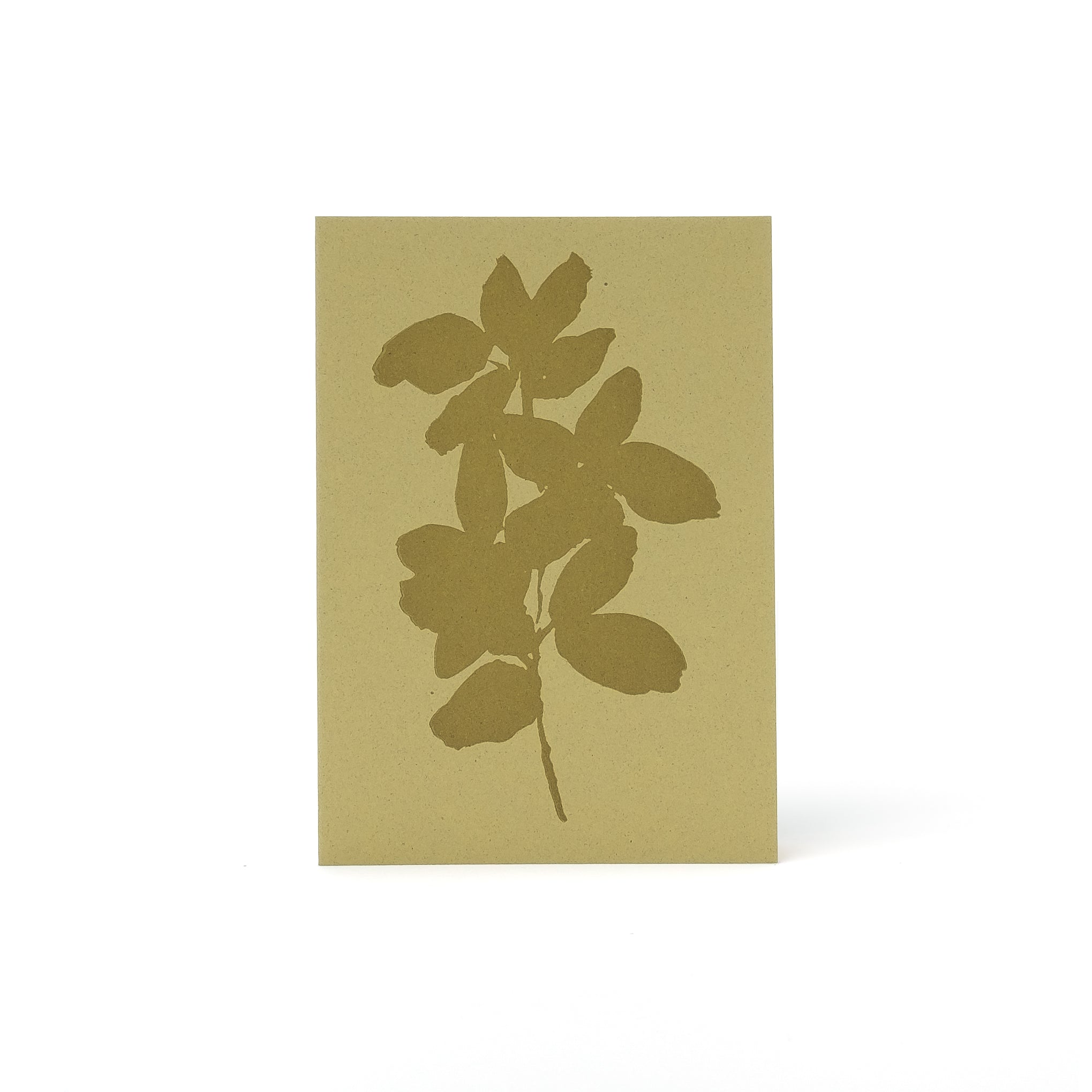 Leaves Letterpress Card <br>Olive - Esme Winter