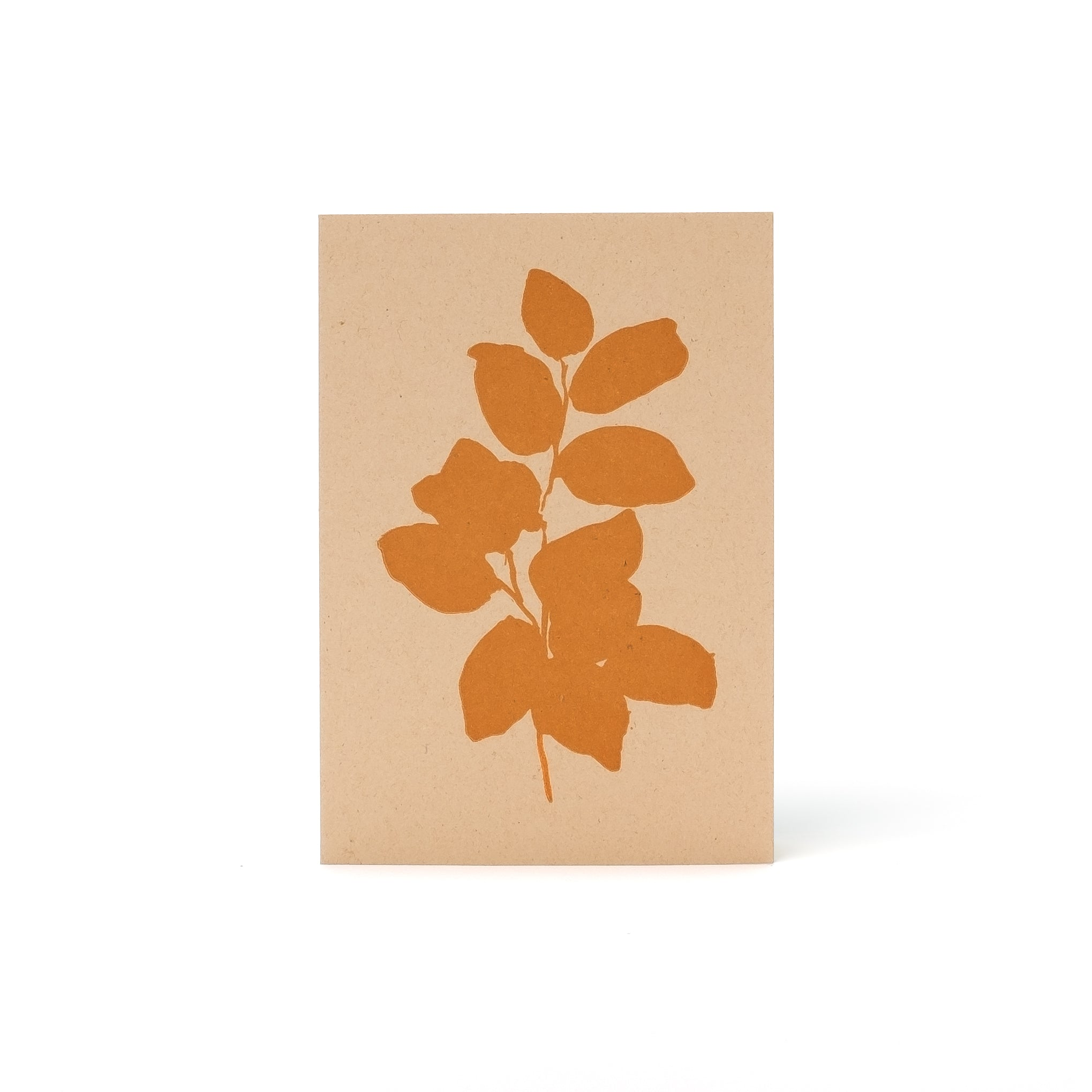 Leaves Letterpress Card <br>Orange - Esme Winter