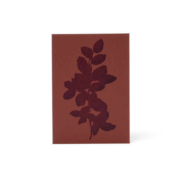 Leaves Letterpress Card <br>Red