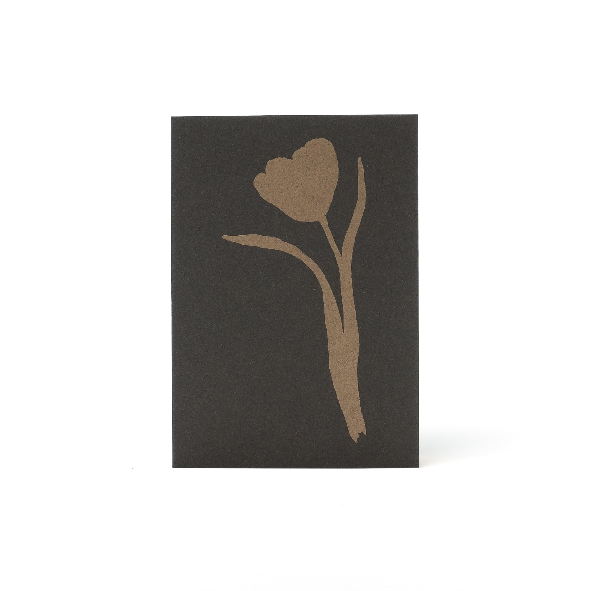 Tulip Letterpress Card <br>Gold/Coffee - Esme Winter