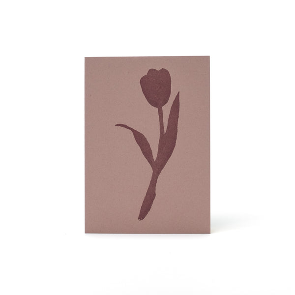 Tulip  Letterpress Card <br>Pink - Esme Winter