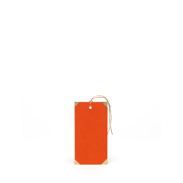 Six Foiled Gift Tags<br> BRIGHT ORANGE - Esme Winter