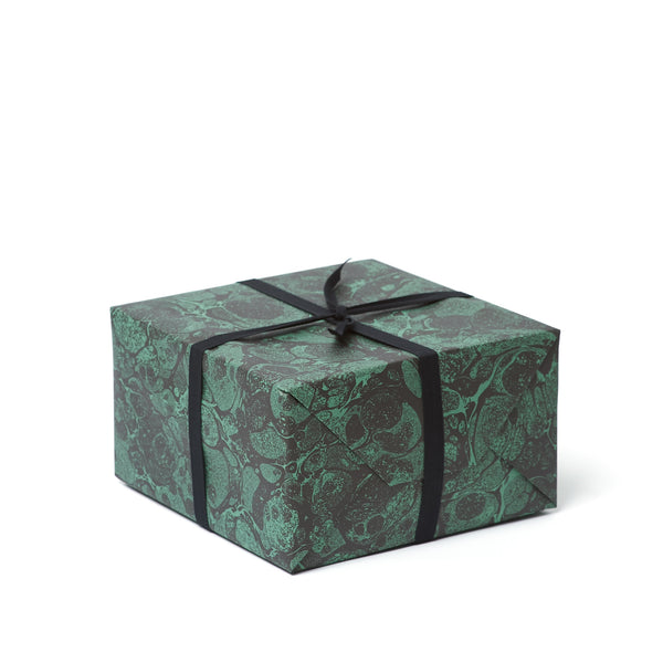 STORMONT WILD Marbled Paper <br>Black / Green