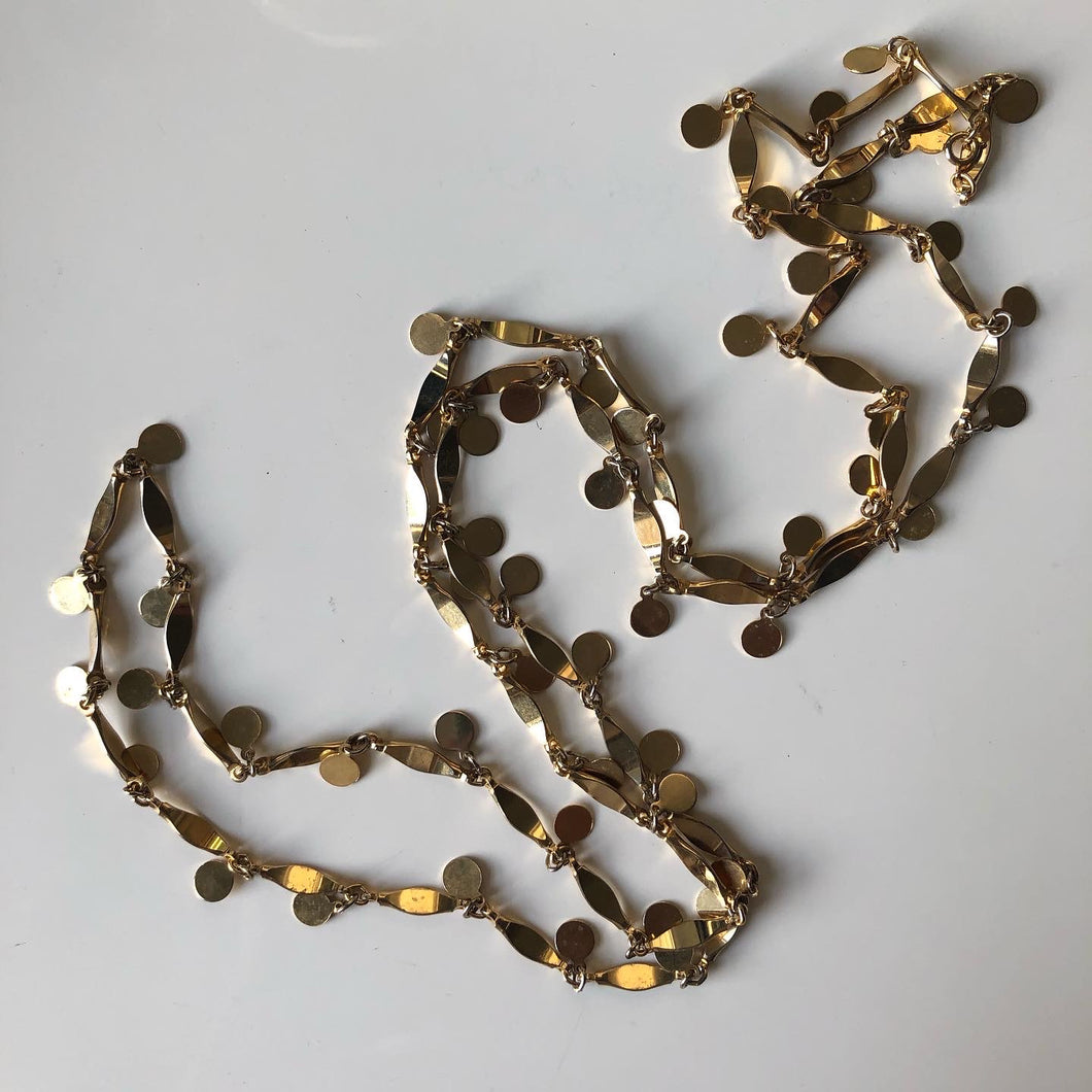 Confetti necklace (1950s - 1970s)