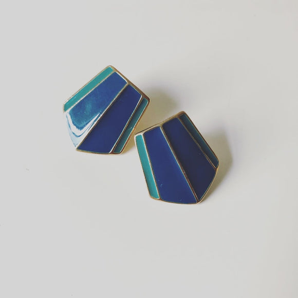 Trifari Enamel Earrings  (1970s)