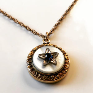 Victorian Revival Star Pendant & Necklace (1940s)