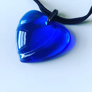 Baccarat crystal blue heart