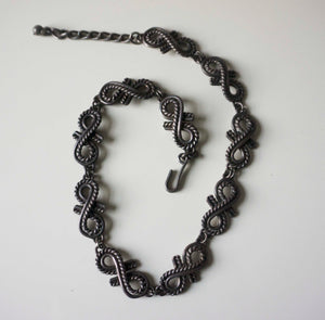 Napier Sterling Silver Choker (1960s-1970s)