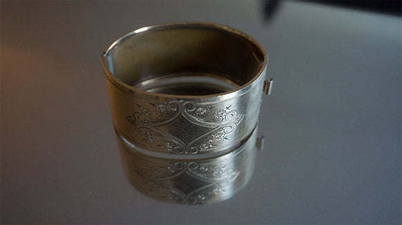 Victorian Etched Cuff (1870s-1900s)