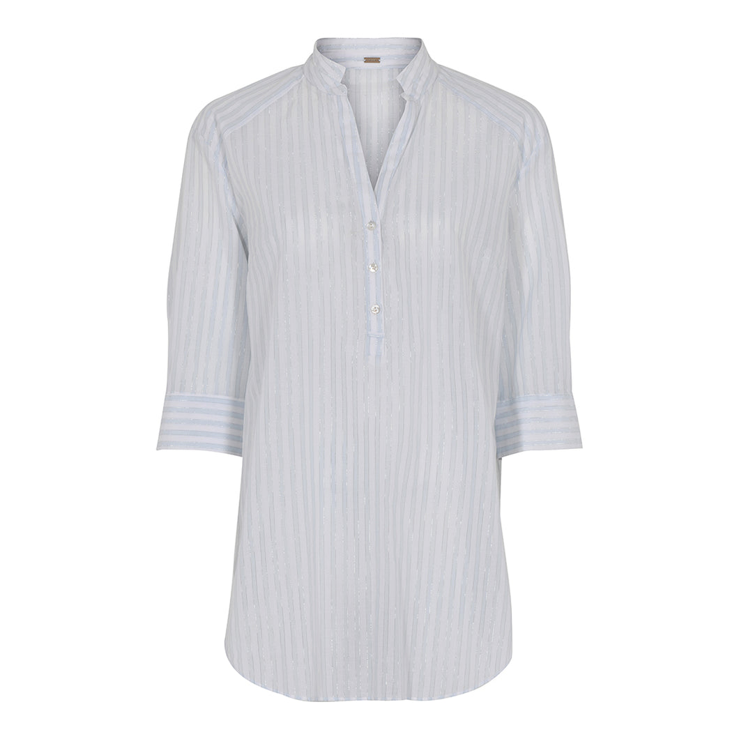 Gustav Ann Shirt - White / Blue