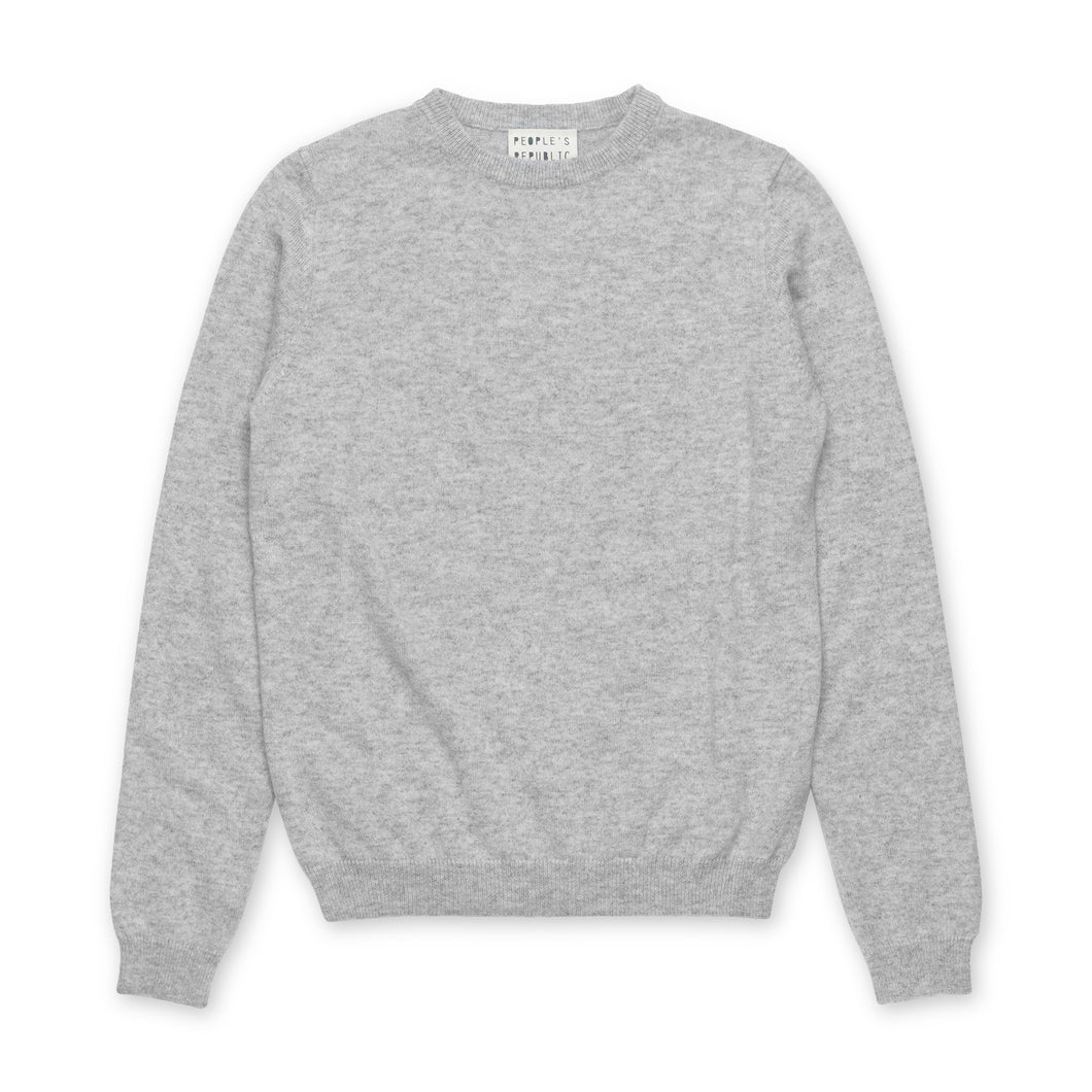 People's Republic Of Cashmere Womens Roundneck - Ash Grey