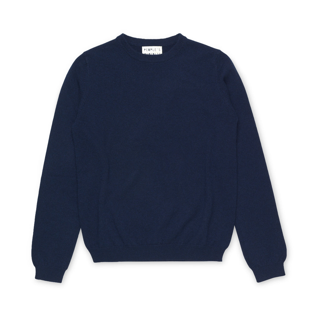 People's Republic Of Cashmere Womens Roundneck - Navy Blue