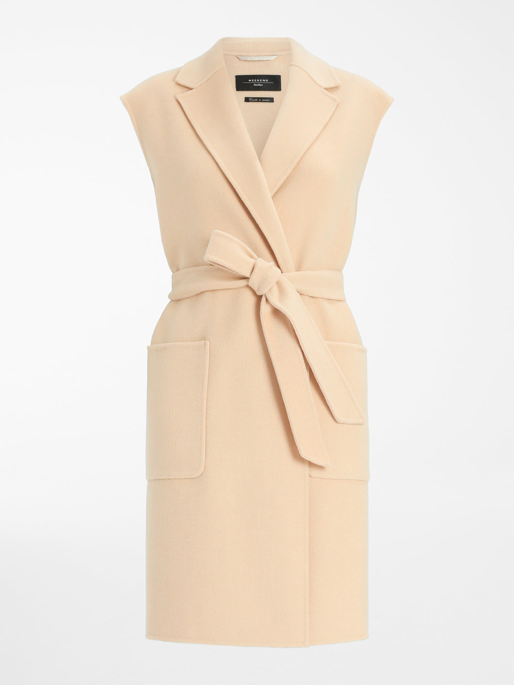 Weekend MaxMara Educata Lang Vest - Camel