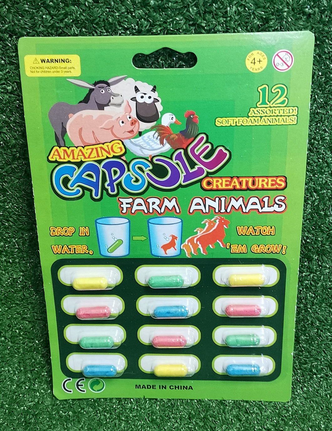 Growing capsule creatures - farm animals