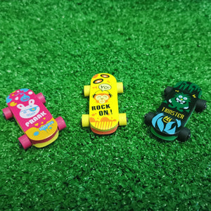 Skate board erasers - pack of 3