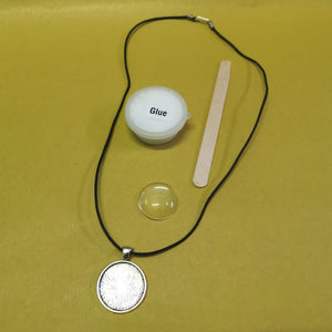 Make your own glass dome necklace