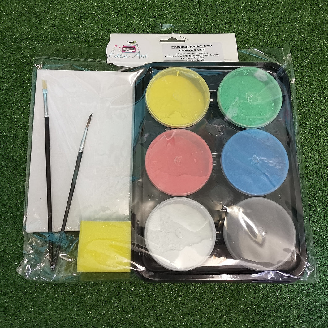 Powder paint and accessories set