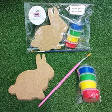 Load image into Gallery viewer, Wooden bunny and paints set