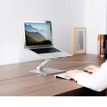 Load image into Gallery viewer, ECVV Aluminum Laptop Stand Ergonomic Folding Portable Laptop Holder Riser Computer Tablet Stand Anti-Slip Pads