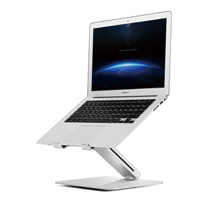 ECVV Aluminum Laptop Stand Ergonomic Folding Portable Laptop Holder Riser Computer Tablet Stand Anti-Slip Pads