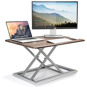 ECVV Standing Desk Computer Work Station Adjustable Vertical Desk Converter, Tabletop Sit Stand Up Desk Riser Workstation Area, 20×30 Inch