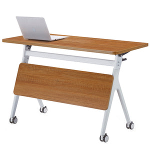 ECVV Office Foldable Desk 1.2M Heavy Duty Flipper Table with Casters for Home Work, Study, Conference Training