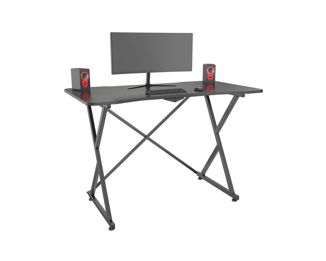 ECVV Gaming Desk Computer Desk Home Office Desk Racing Style Study workstation 44 inch Extra Large Modern Ergonomic E-sports PC Carbon Fiber Writing Desk Table black