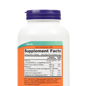 NOW Foods - Calcium Citrate Tablets - Supplement Facts