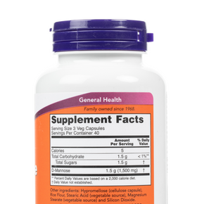 Now-D-Mannose-VegCapsules-SupplementFacts