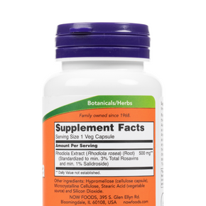 Now-Rhodiola-VegCapsules-SupplementFacts