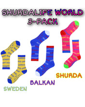 Load image into Gallery viewer, SHURDA SOCKS WORLD 3-PACK