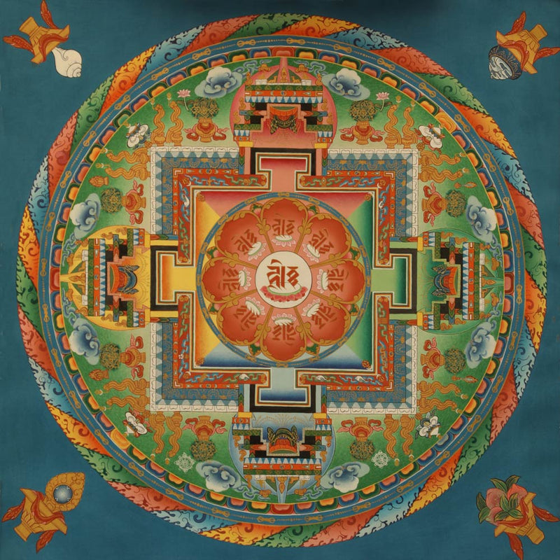 Amitayus Mandala Painted Thangka