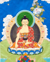 Buddha Shakyamuni (Detailed) Applique Thangka