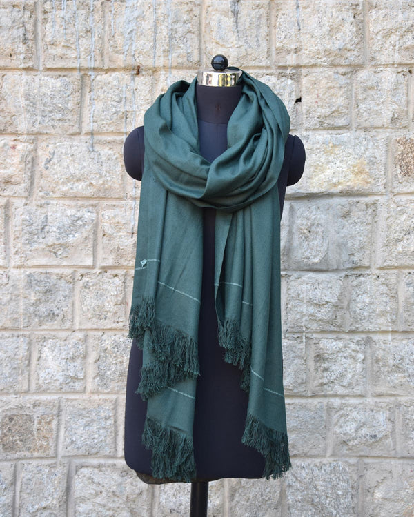 Buray Shawl, Forest Green