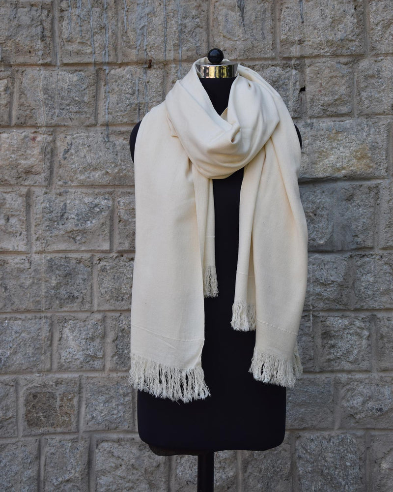 Buray Shawl, Natural Ivory