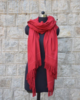 Buray Shawl, Monk Red