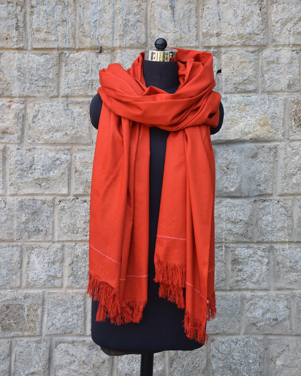 Buray Shawl, Ember Orange