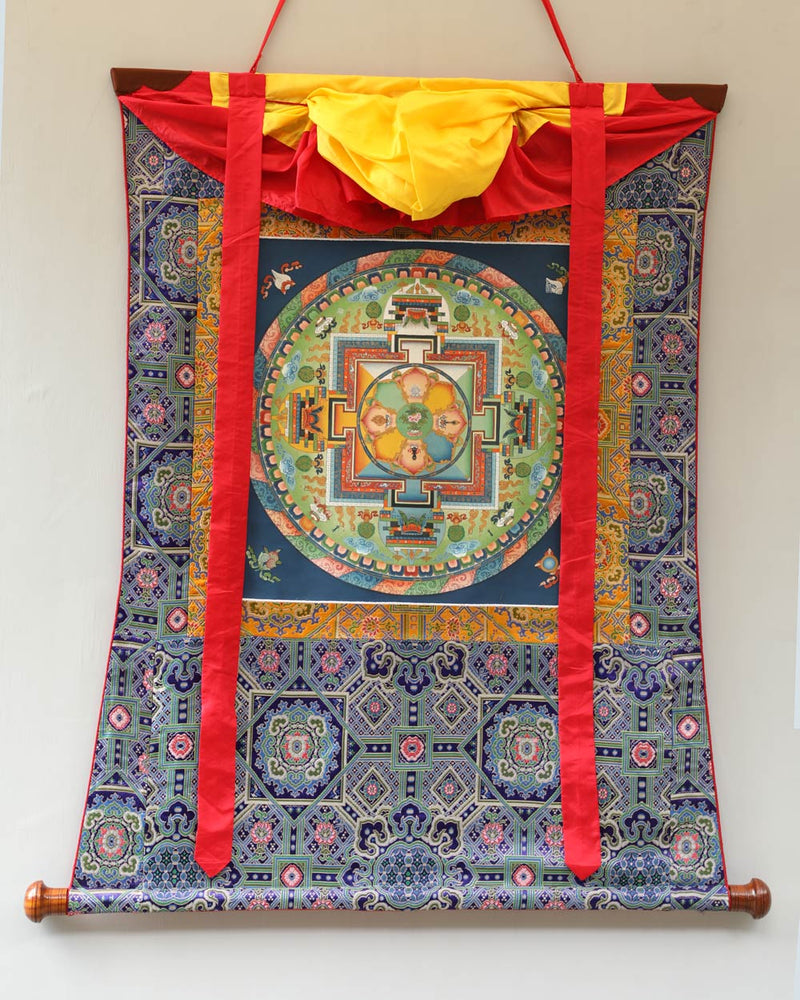 Avalokiteshvara Mandala Painted Thangka