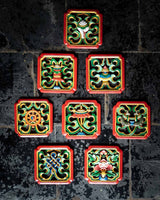 Eight Auspicious Symbols Carved Wall Hanging (Set)