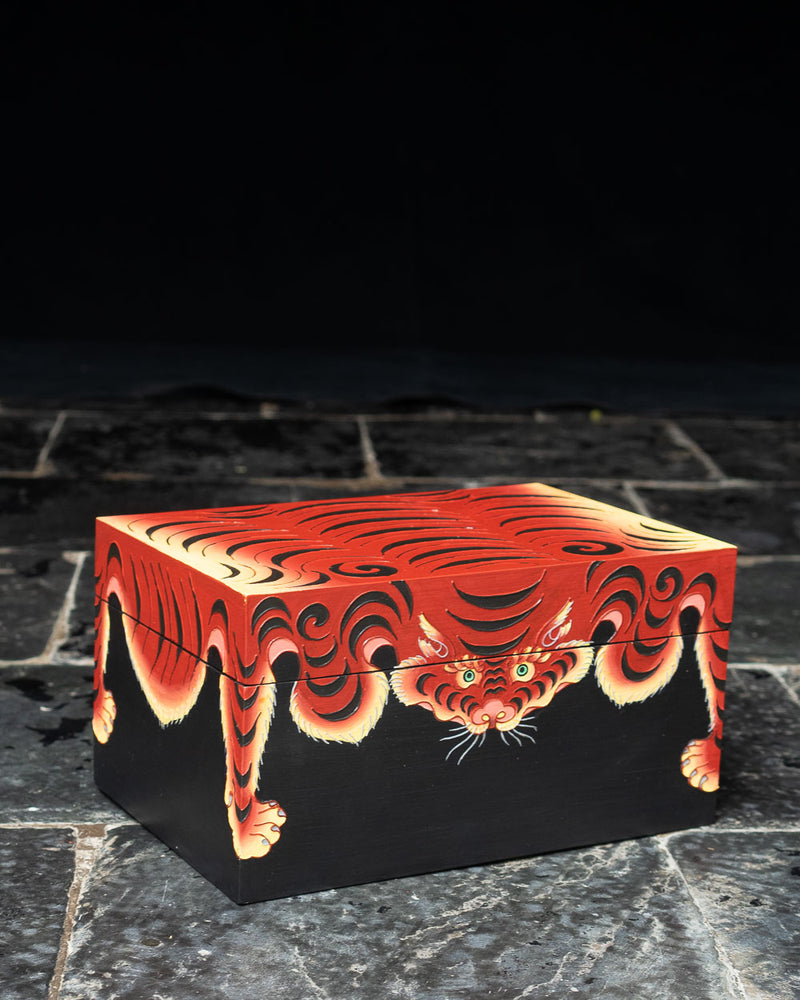 Tiger Skin Stationery Box