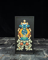 Vase of Treasure Relief Painted Wall Hanging