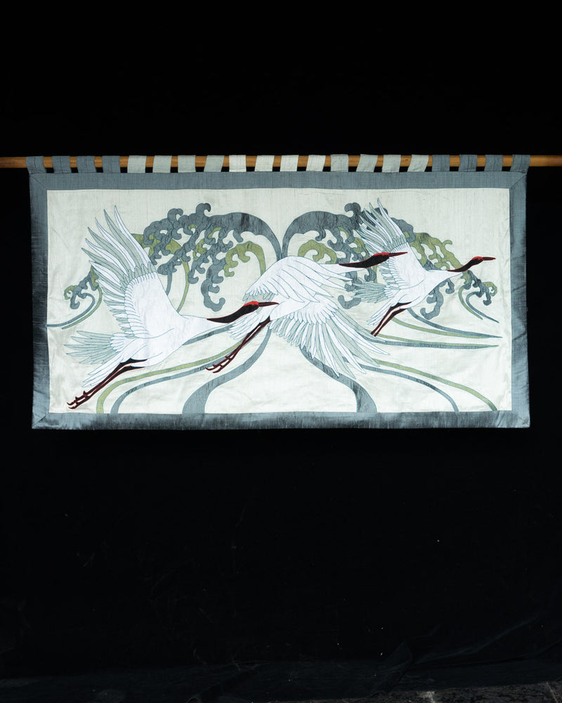 Crane Applique Wall Hanging