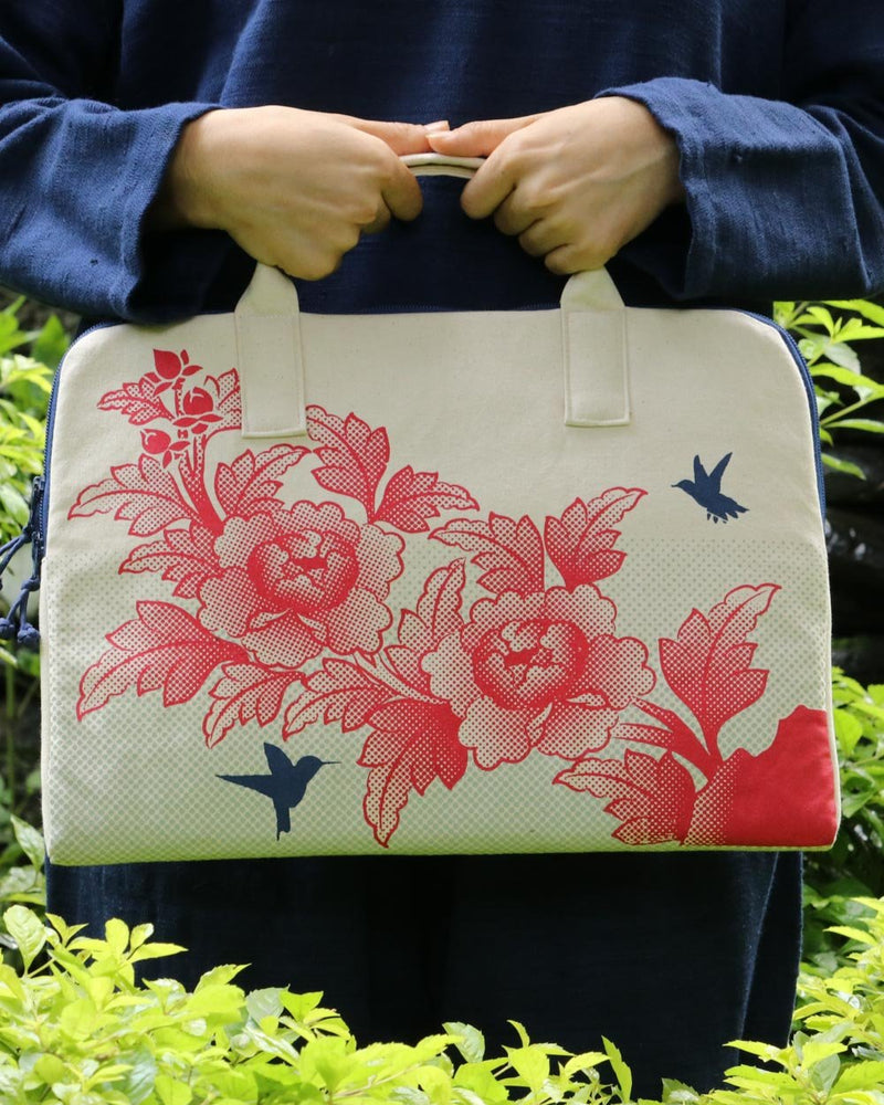 Birds & Flowers Laptop Satchel