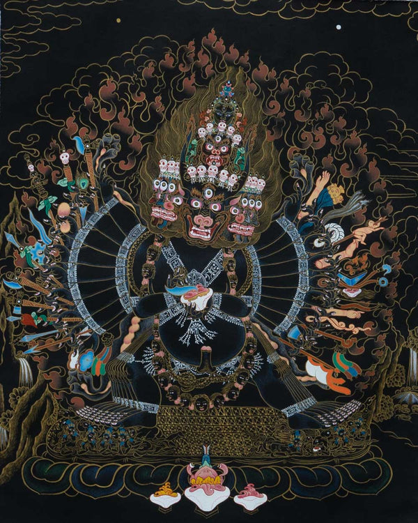 Vajrabhairava Solitary Hero Painted Thangka