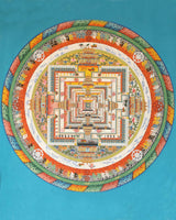 Kalachakra Mandala Painted Thangka