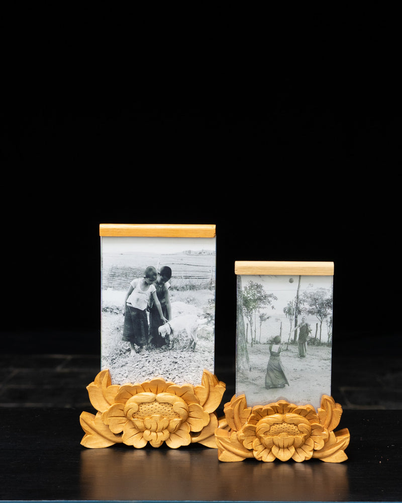 Carved Lotus Photo Frame